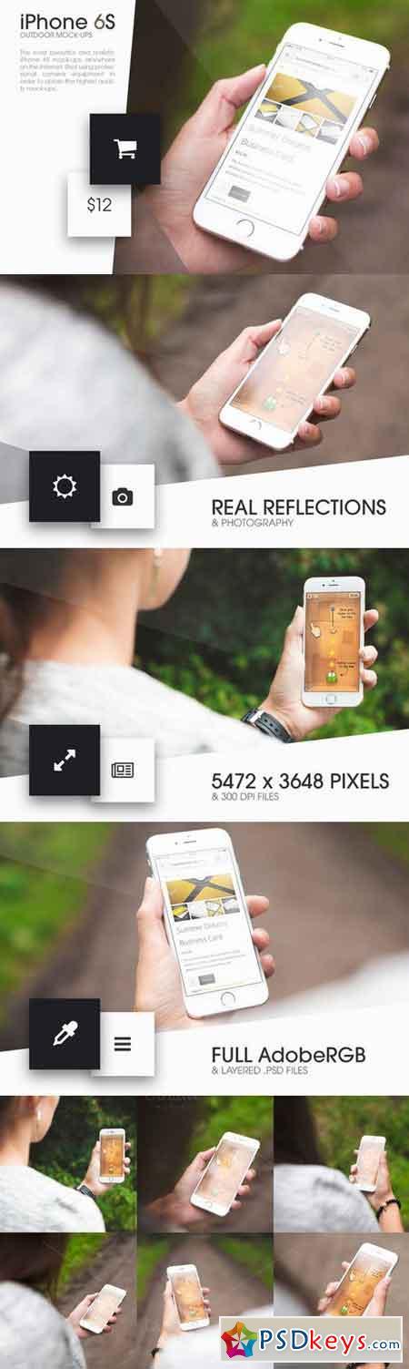 iPhone 6S Outdoor Mock-Ups 376231
