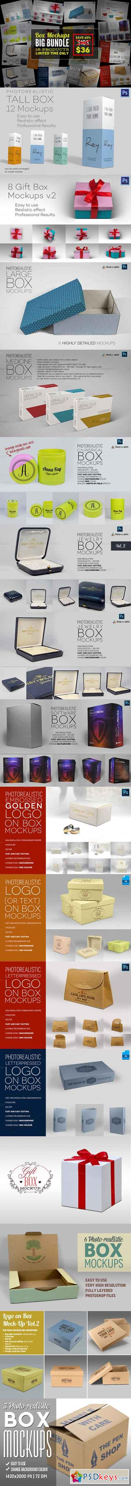 Box Mockups Big Bundle 651383 » Free Download Photoshop