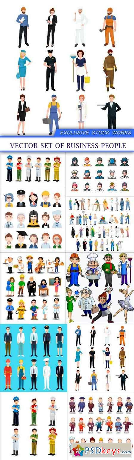 Vector set of business people 10X EPS