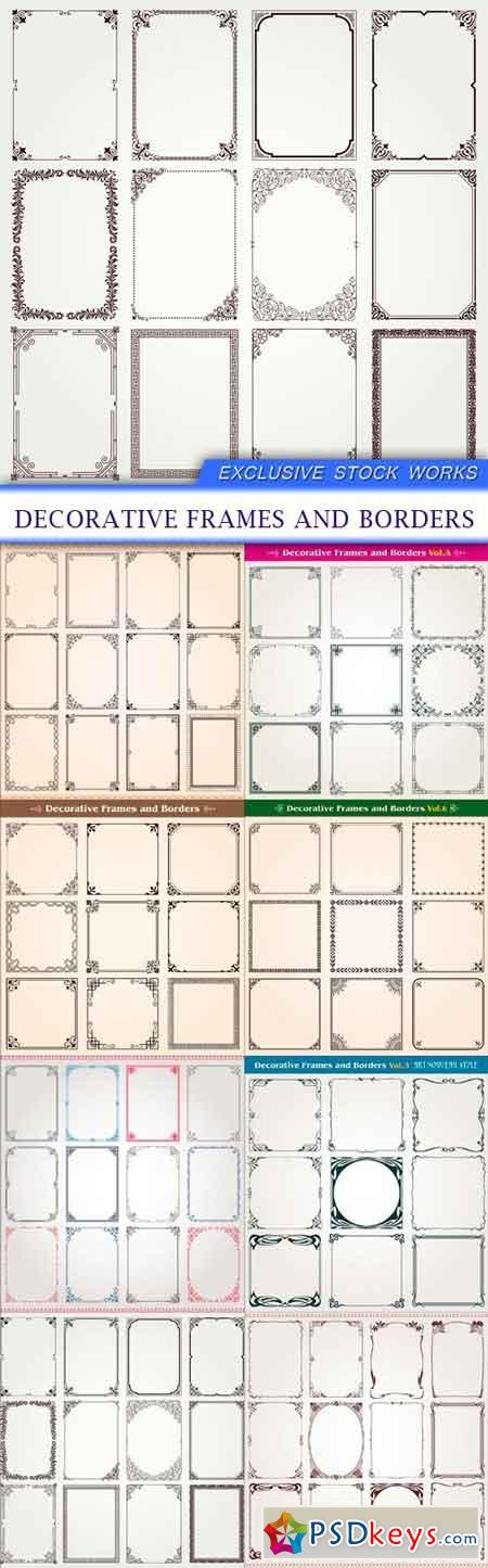 Decorative frames and borders 8x EPS