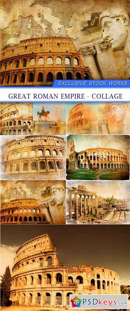 Great Roman empire - collage 8x JPEG