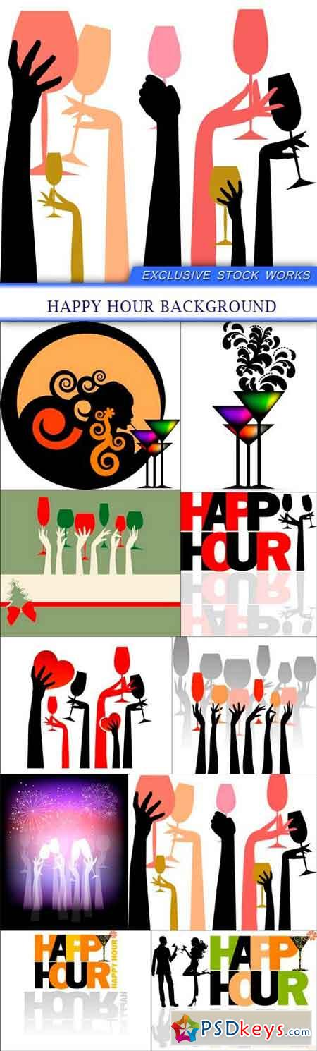 Happy Hour background 10x EPS