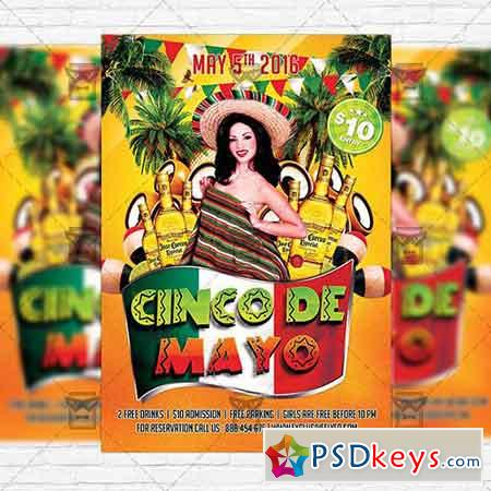 Cinco de Mayo Celebration – Premium Flyer Template + Facebook Cover