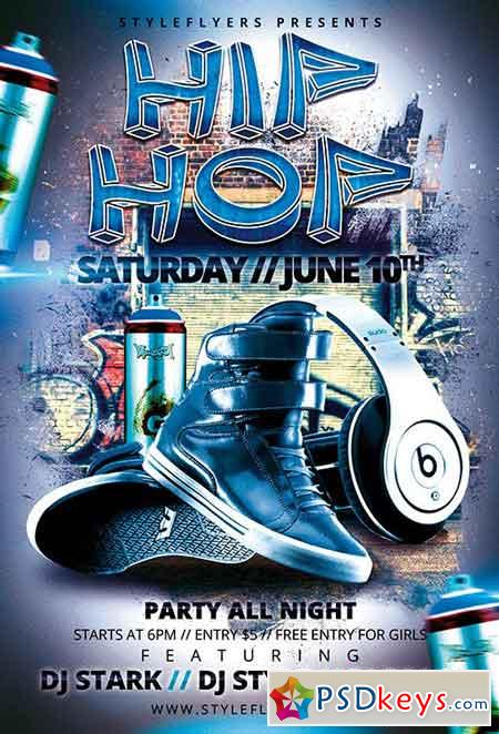 Hip Hop Psd Flyer Template Facebook Cover Free Download