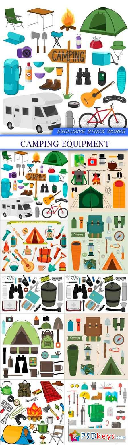 Camping equipment 10X EPS
