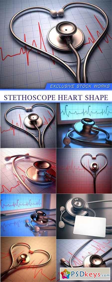 Stethoscope heart shape 8x JPEG