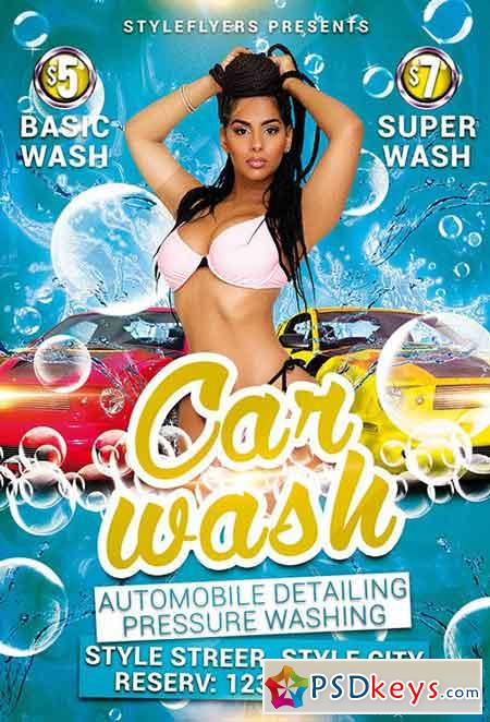 Car Wash Psd Flyer Template Facebook Cover Free Download