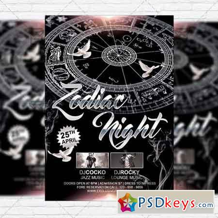 Zodiac Night – Premium Flyer Template + Facebook Cover