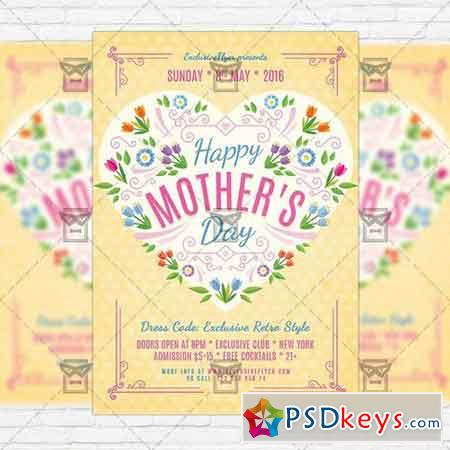 Happy Mothers Day – Premium Flyer Template + Facebook Cover