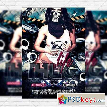 Thug Life – Premium Flyer Template + Facebook Cover