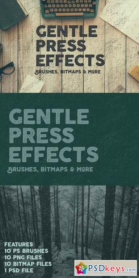 10 Gentle Vintage Press Effects 699552