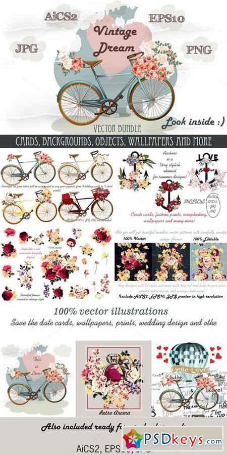 Summer and wedding vector bundle 758649
