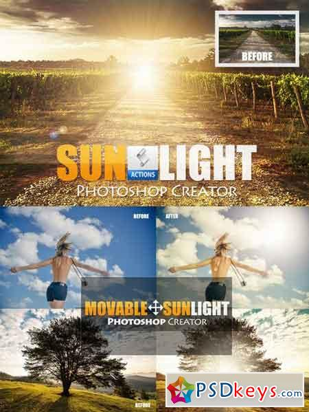 Add Sunlight Photoshop Creator 698193