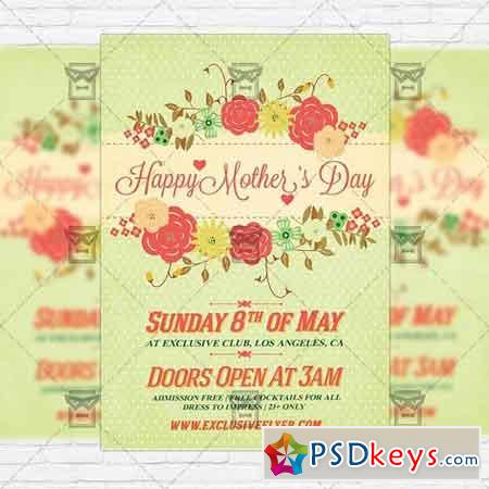 Mothers Day – Premium Flyer Template + Facebook Cover 2