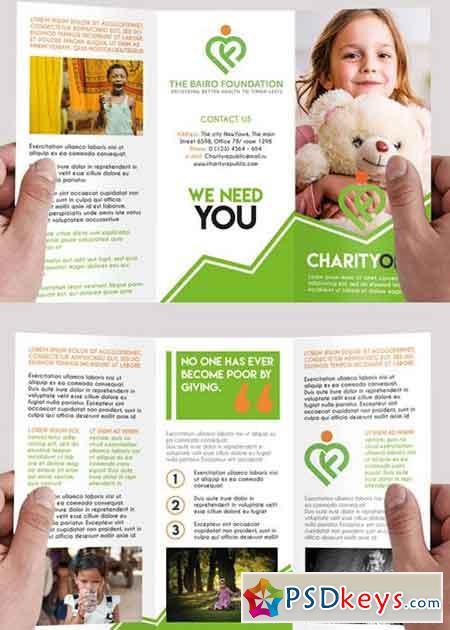 Charity Premium Tri-Fold PSD Brochure Template » Free Download ...