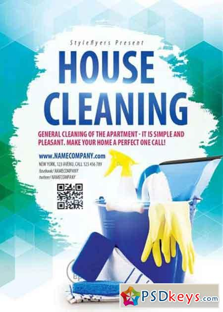 House Cleaning Psd Flyer Template  Free Download Photoshop Vector