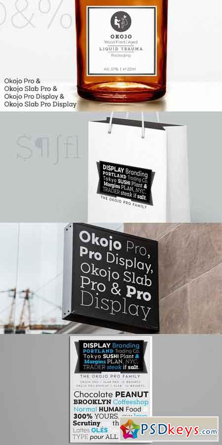 Okojo Pro Font Family $360 » Free Download Photoshop Vector