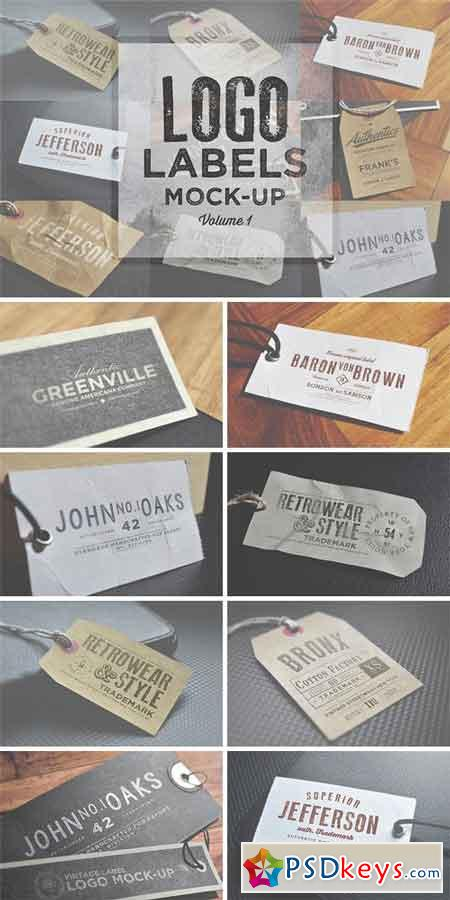 Logo Labels Mock-ups Vol.1 88049