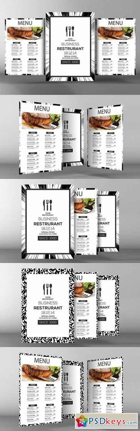 Minimalist Menu + Table Tent 772476