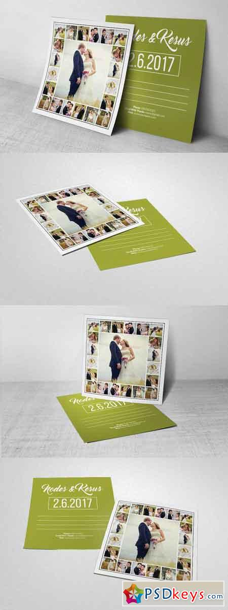 Wedding Postcard Template 699703