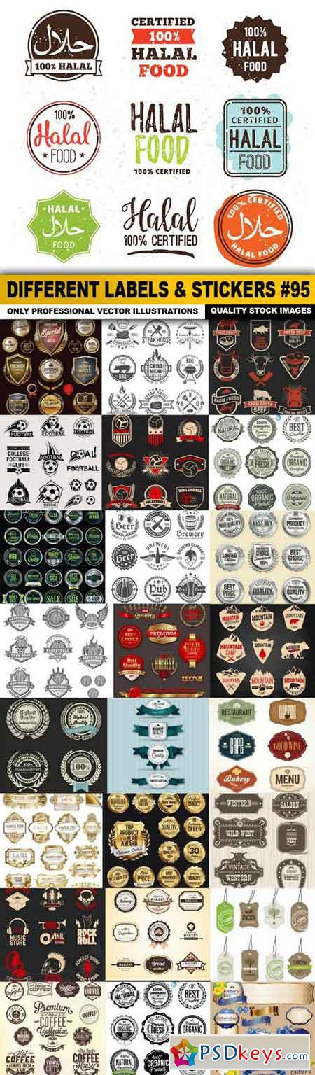 Different Labels & Stickers #95 - 25 Vector