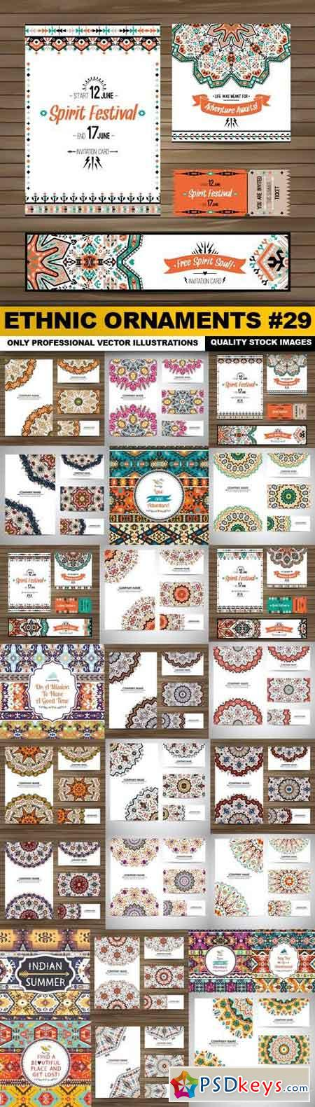 Ethnic Ornaments #29 - 25 Vector