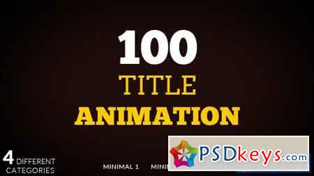 100 Title animation - After Effects Projects