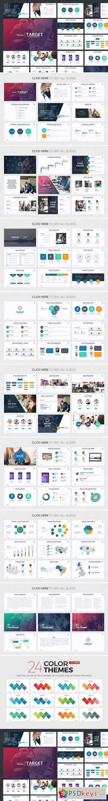 Target Powerpoint Template 787254