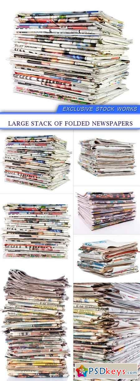 Large stack of folded newspapers 7x jpeg