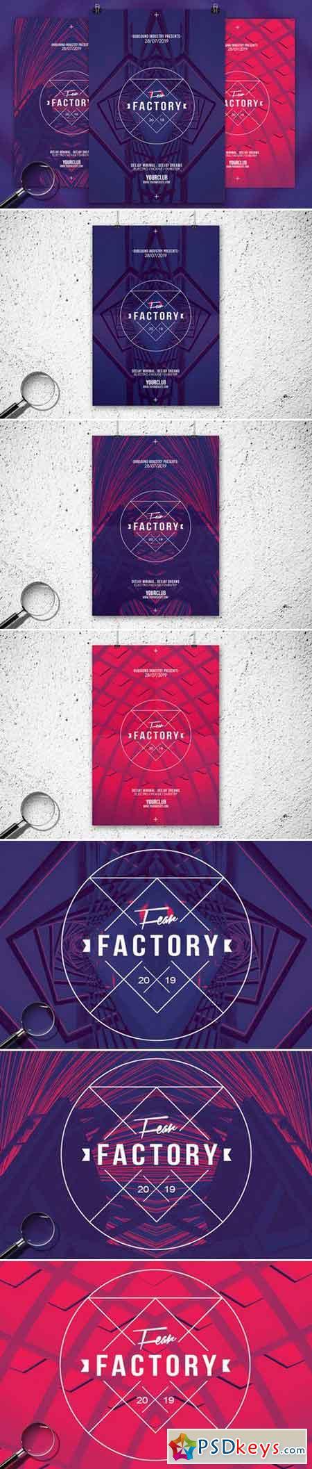 Fear Factory 3in1 Flyer Template 758866