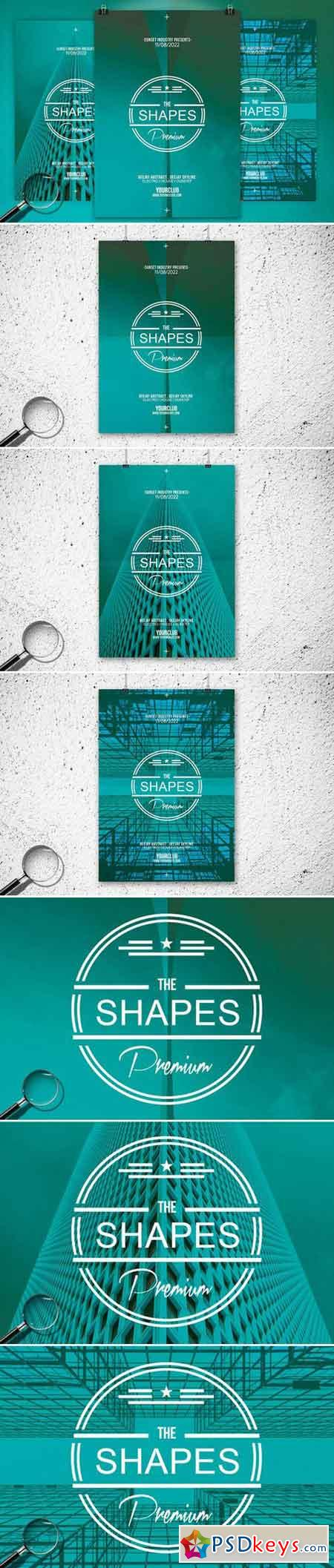 The Shapes 3in1 Flyer Template 758898