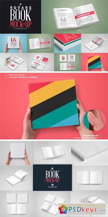 Square Book Mock-Up Set 576654