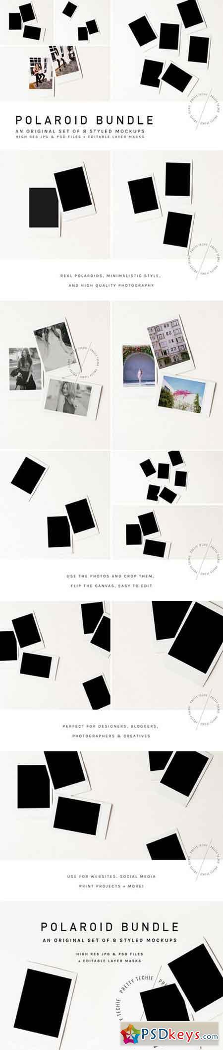 Polaroid Mockup Bundle 791168