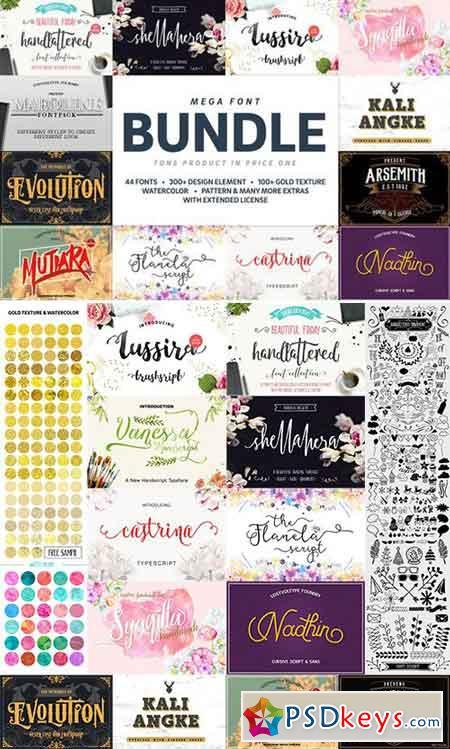 Mega Handmade Font Bundle 796627