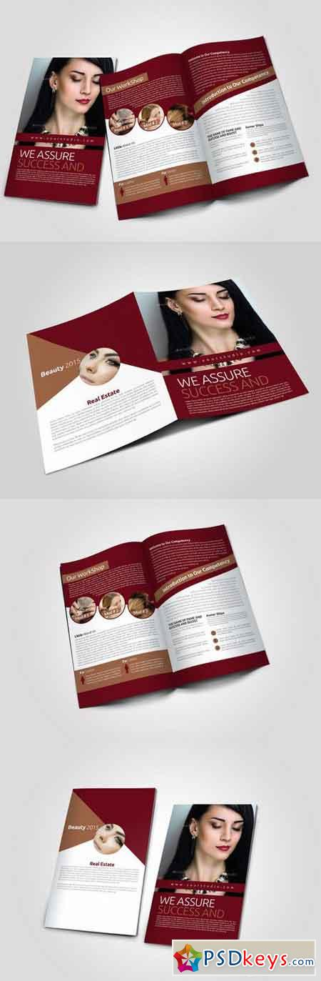 2 fold brochure template photoshop - 4 pages salon bi fold brochure 767861 free download