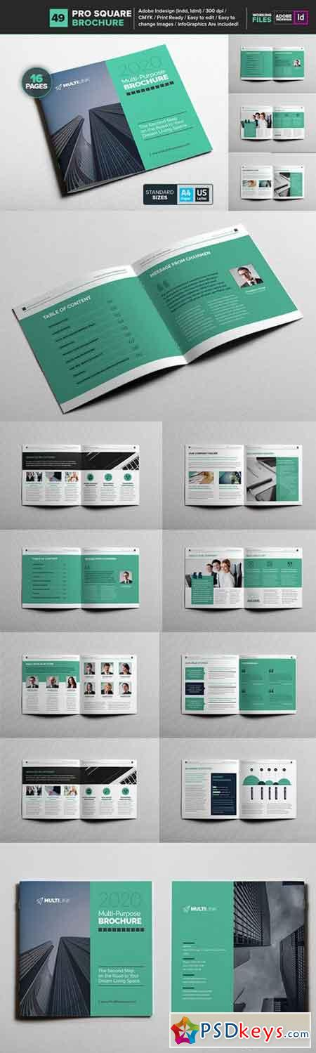 Multipurpose Square Brochure 49 795195