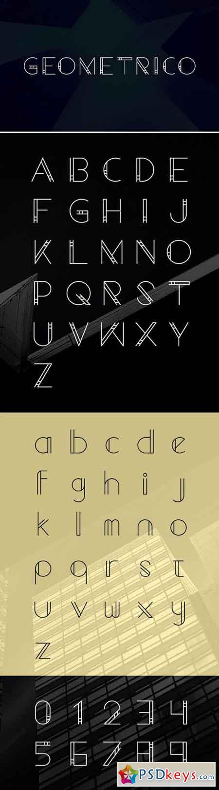 Geometrico font