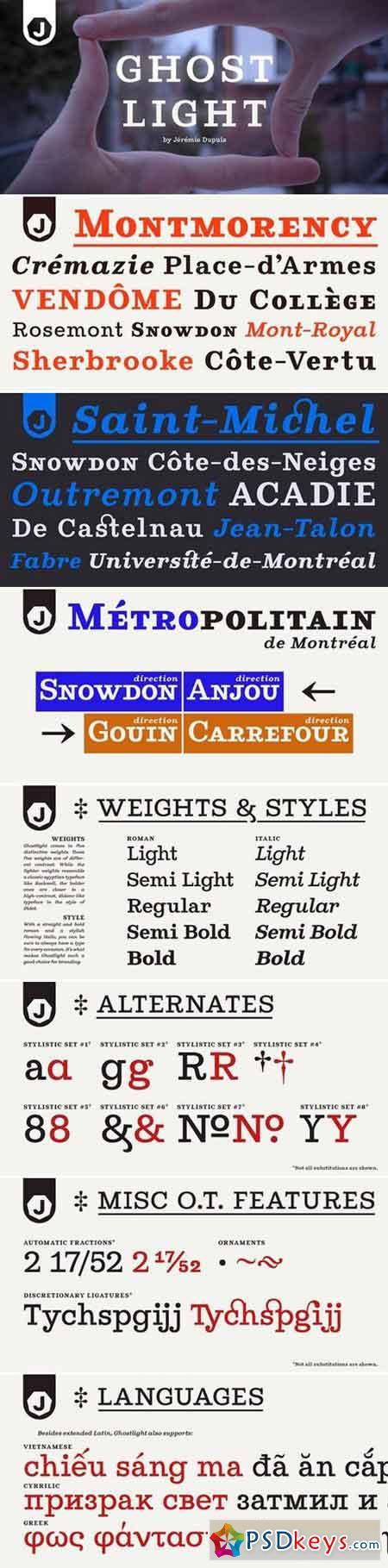 Ghostlight 10 font