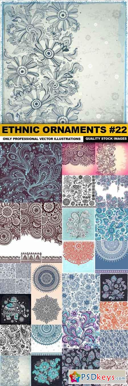 Ethnic Ornaments #22 - 25 Vector