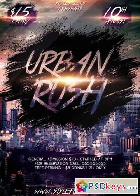 Urban Rush PSD Flyer Template