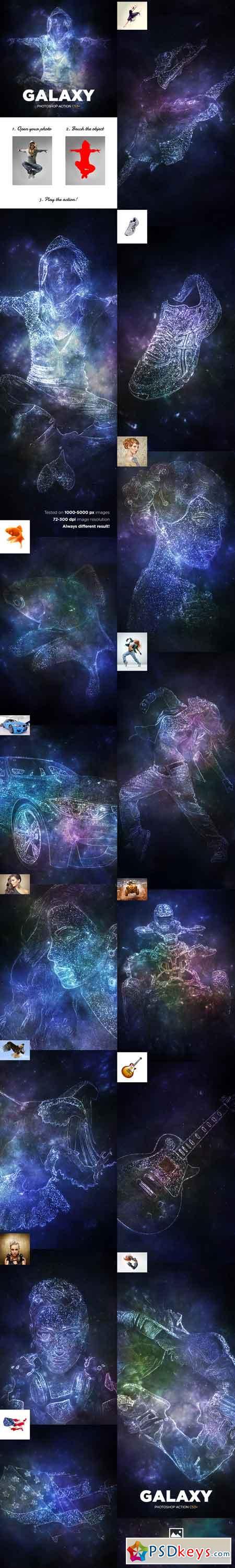 Galaxy Photoshop Action CS3+ 16914670