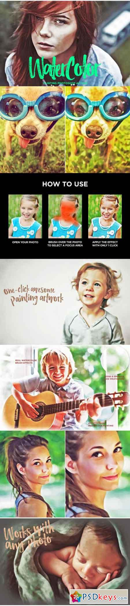 WaterColor - Photoshop Action 716302 » Free Download