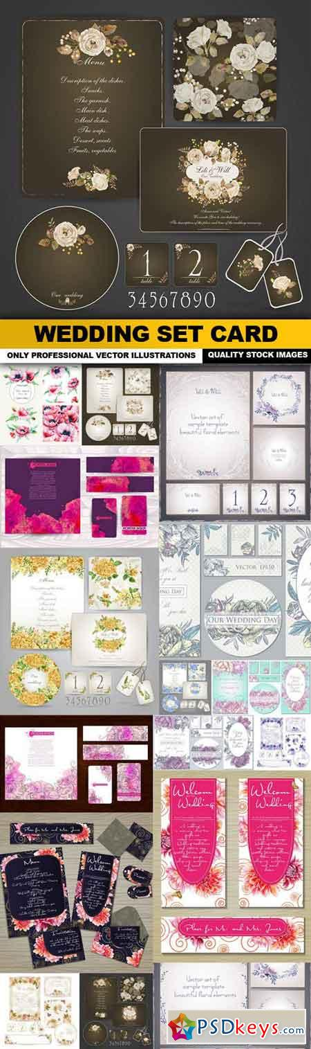 Wedding Set Card - 16 Vector