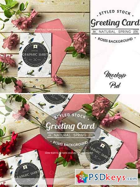 Card Mockup Styled Stock Photograph 697055