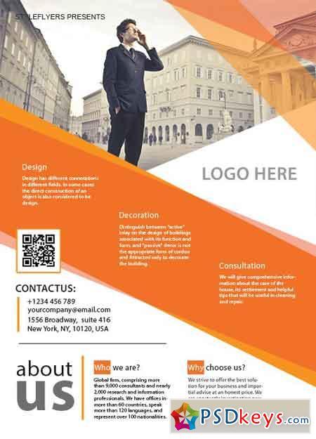 a4 business flyer psd template free download photoshop vector stock image via torrent. Black Bedroom Furniture Sets. Home Design Ideas