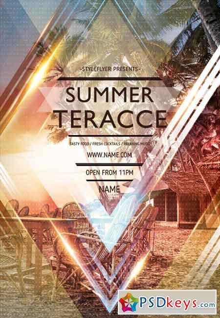 Summer Terrace Flyer PSD Template