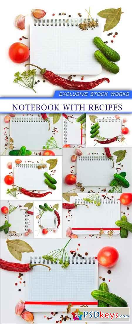 Notebook with recipes 9X JPEG