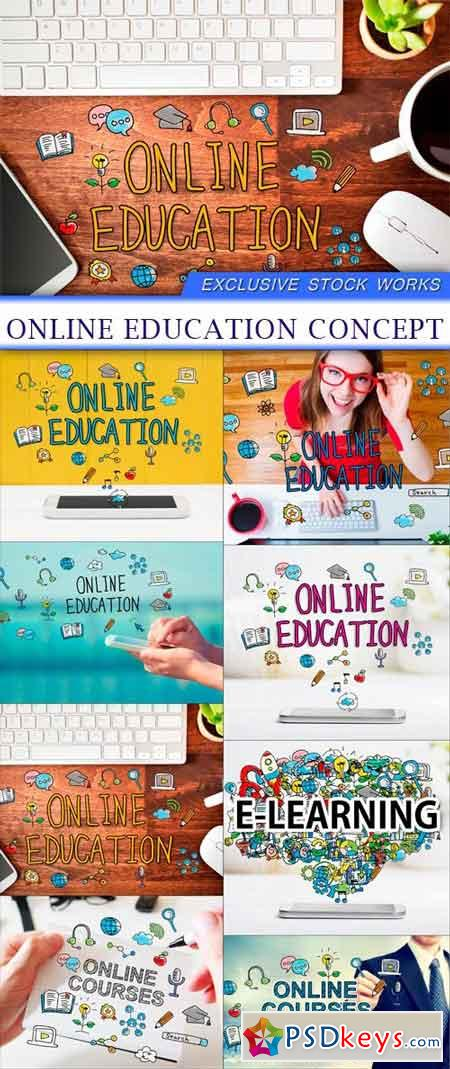 Online Education concept 8X JPEG