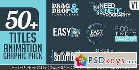 Titles Animation Graphic Pack 15931067 - After Effects Projects