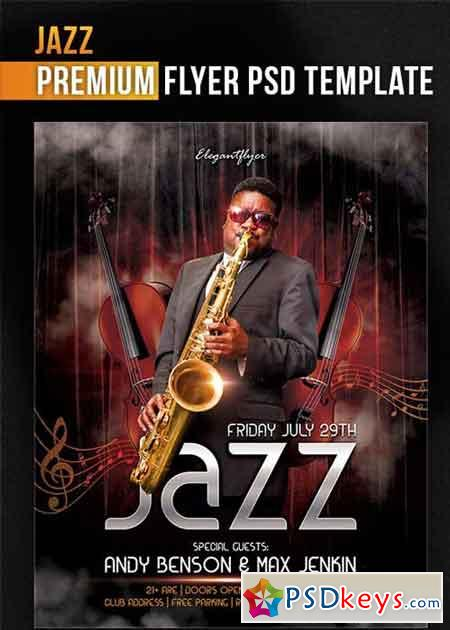 jazz flyer psd template facebook cover free download. Black Bedroom Furniture Sets. Home Design Ideas